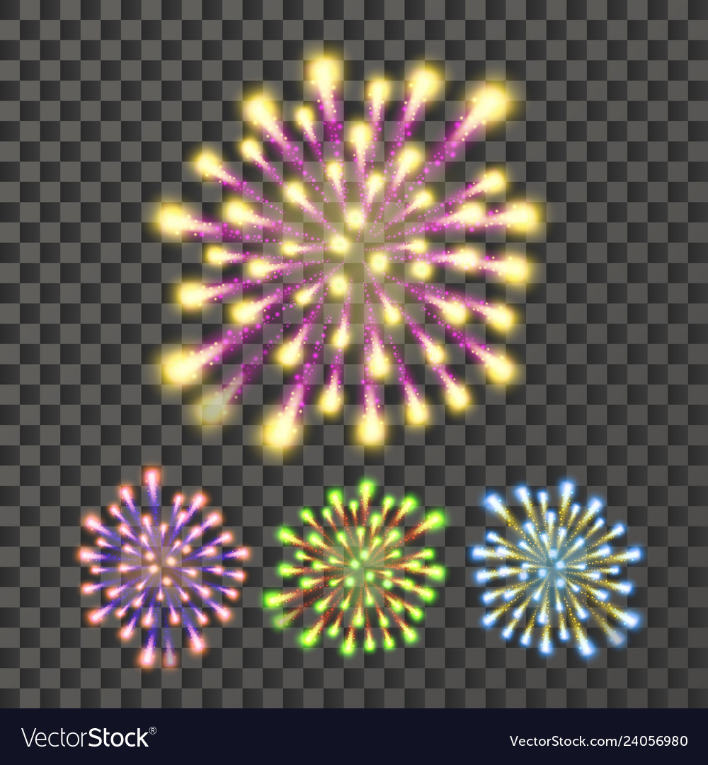 Firework bursting sparkling star petard