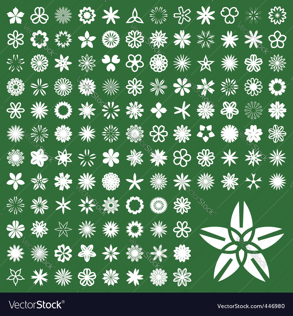 Floral pictogram vector image