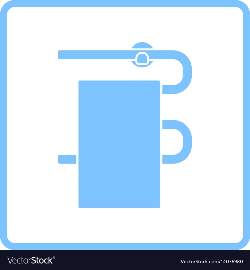 Heated towel rail icon vector image
