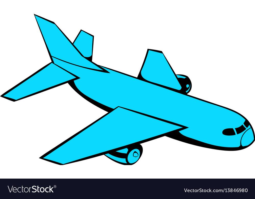 Passenger airplane icon icon cartoon