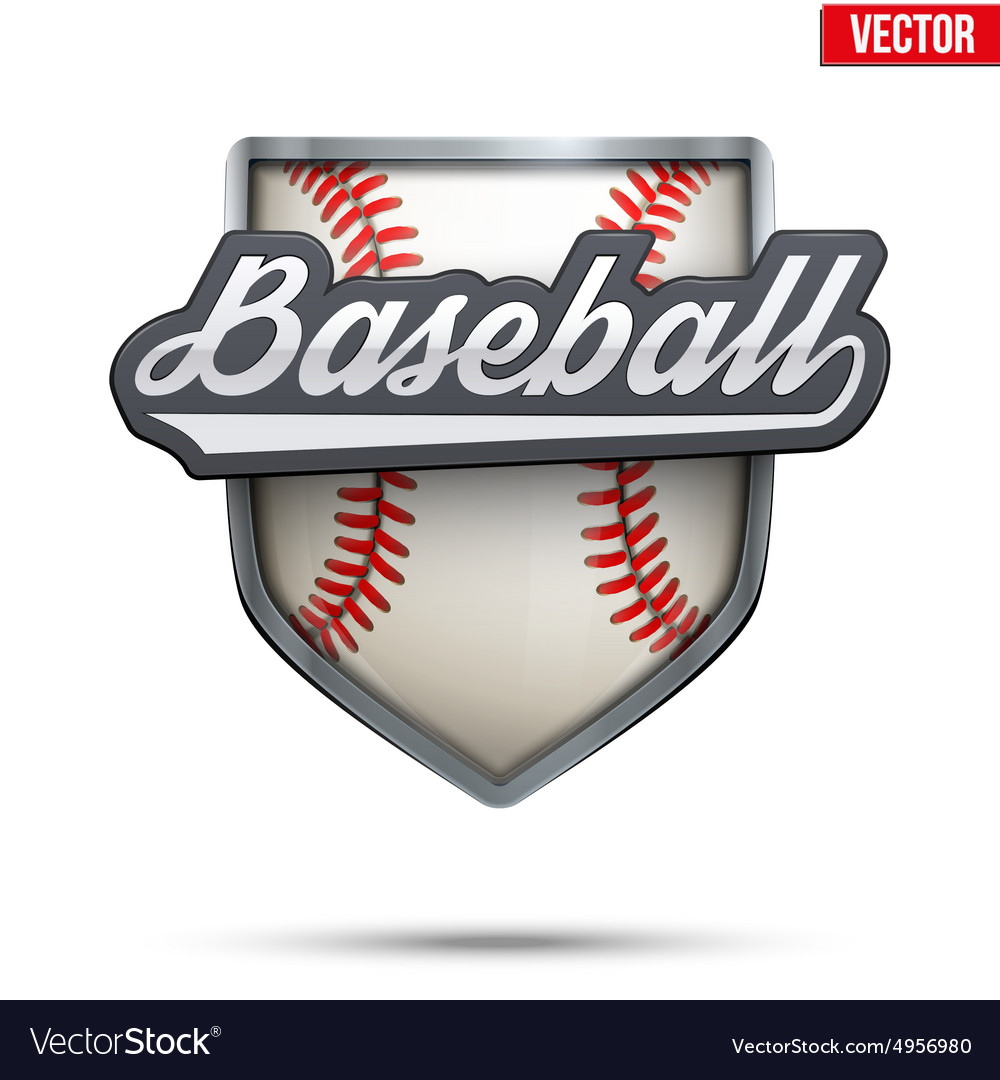 Premium symbol of Baseball label
