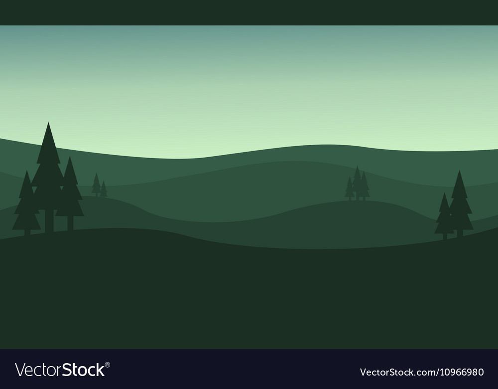 Silhouette of hill green backgrounds