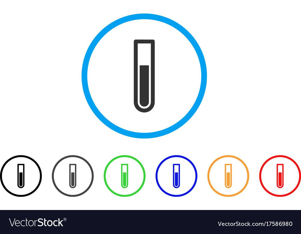 Test tube rounded icon