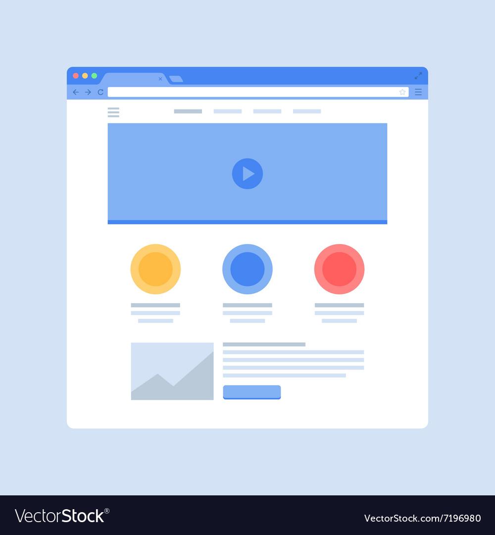 Website on Browser Window