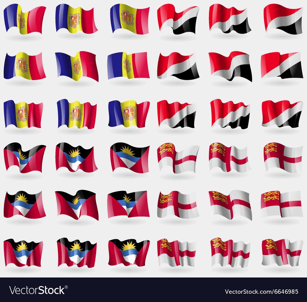 Andorra Sealand Principality Antigua and Barbuda vector image