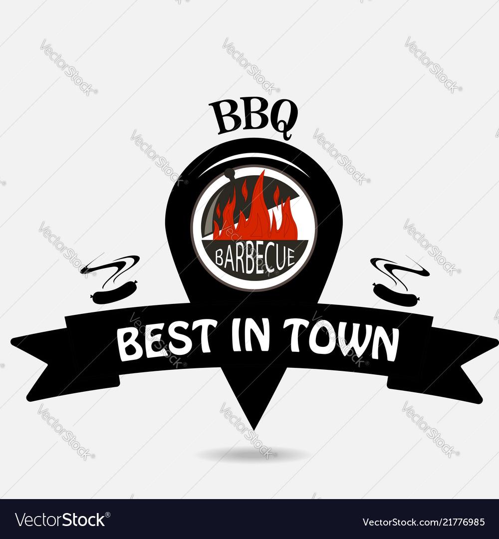 Barbeque logo location