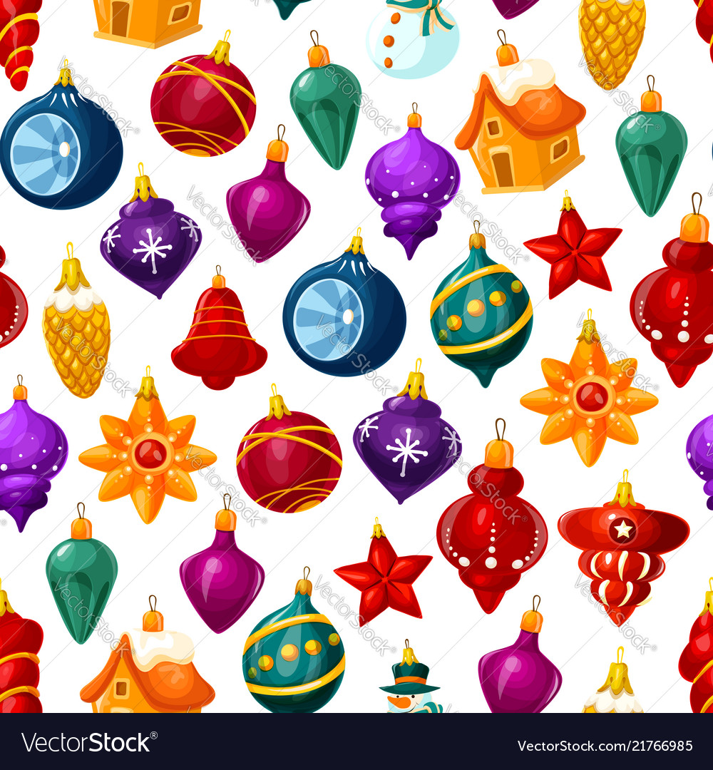 Christmas decorations seamless pattern