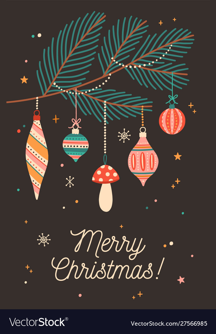 Christmas festive greeting card template