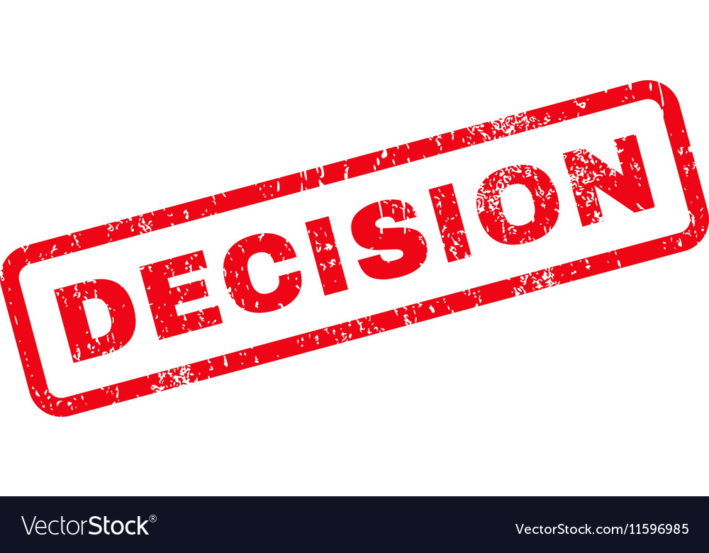 Decision Text Rubber Stamp