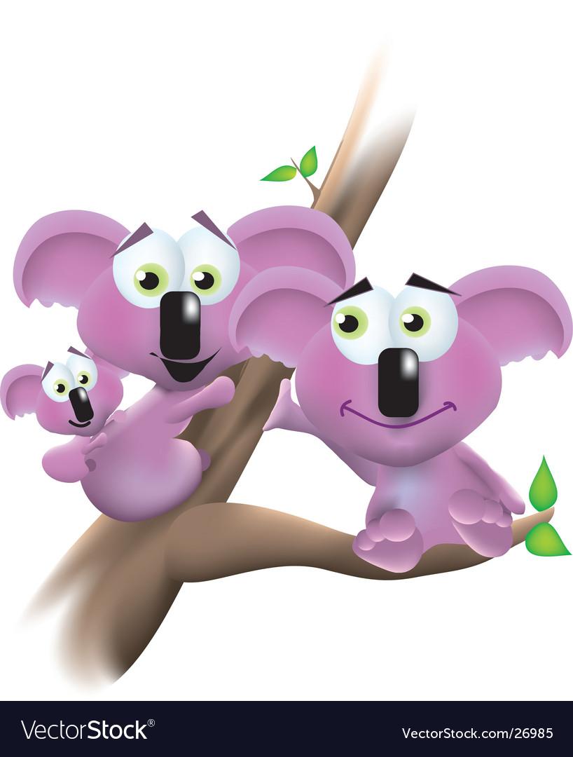 Koala family portrait
