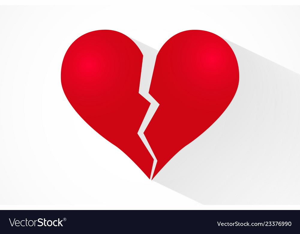 Broken Heart Background Royalty Free Vector Image