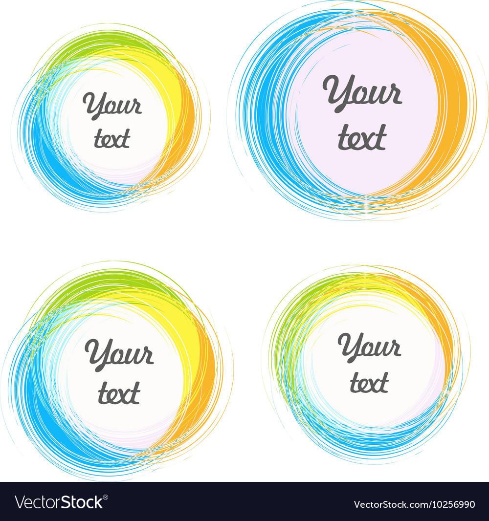 Design elements for the background Color circular