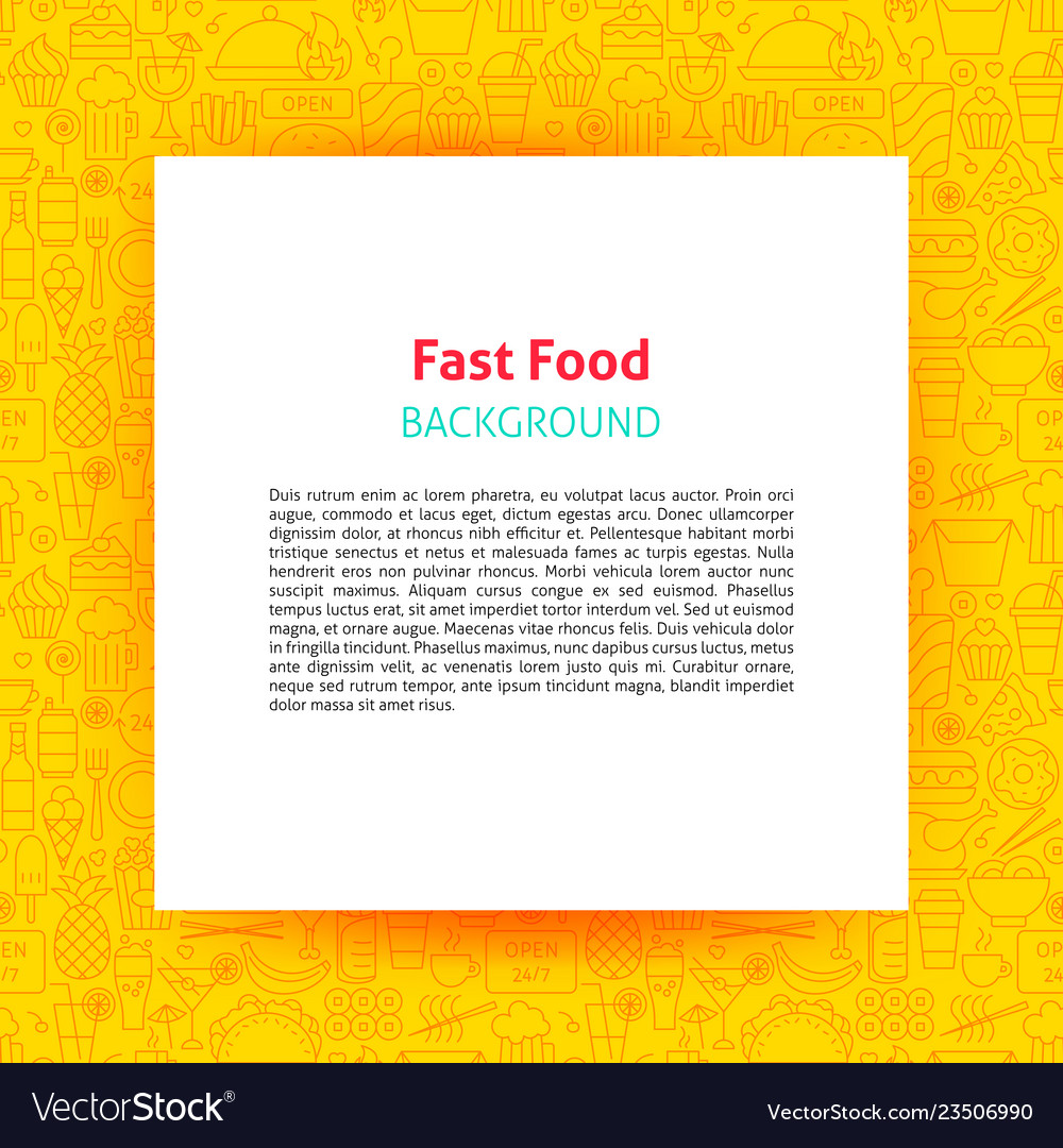 Fast food paper template