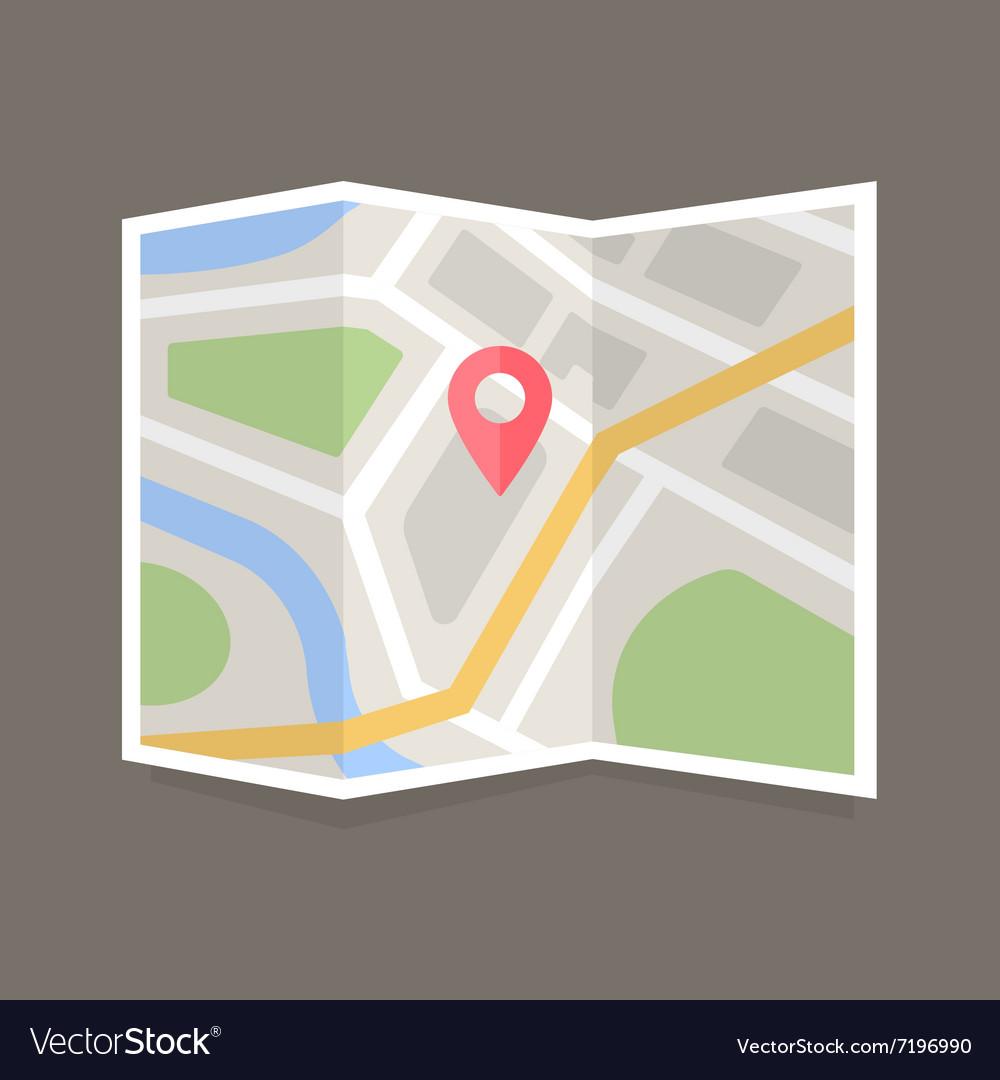 Flat Map Icon
