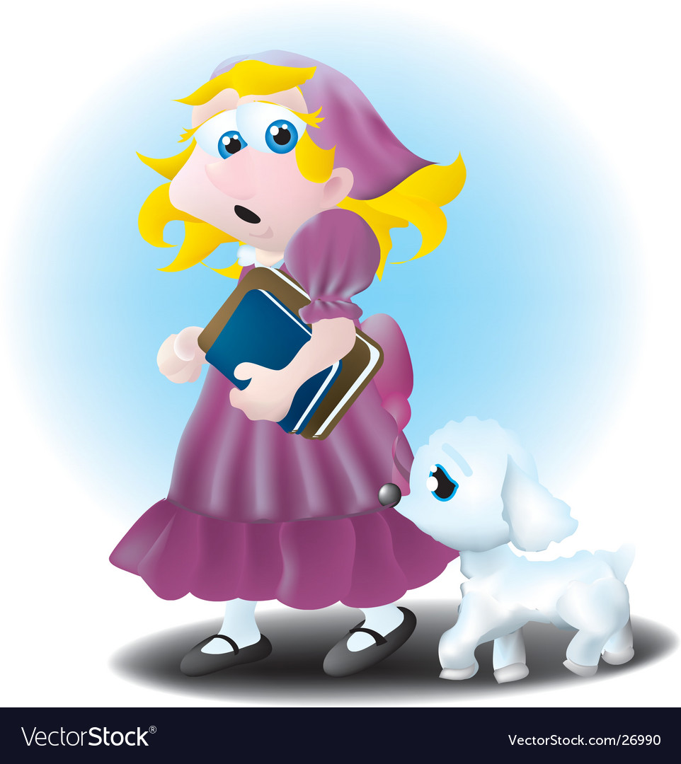 Mary had a little lamb vector image
