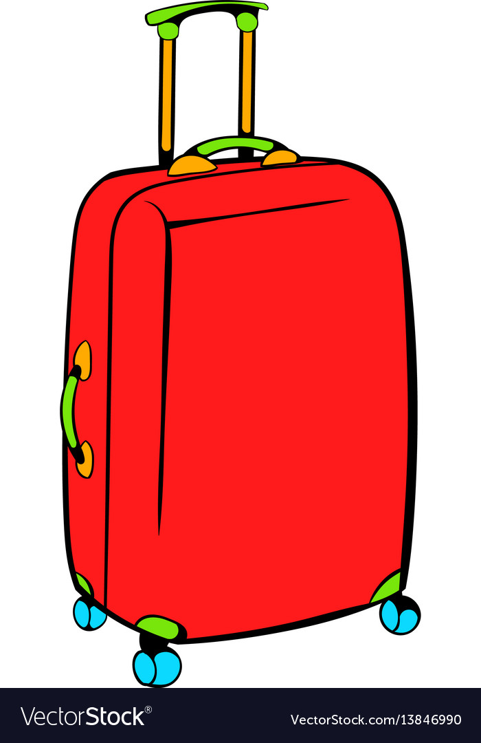 Red travel suitcase icon icon cartoon