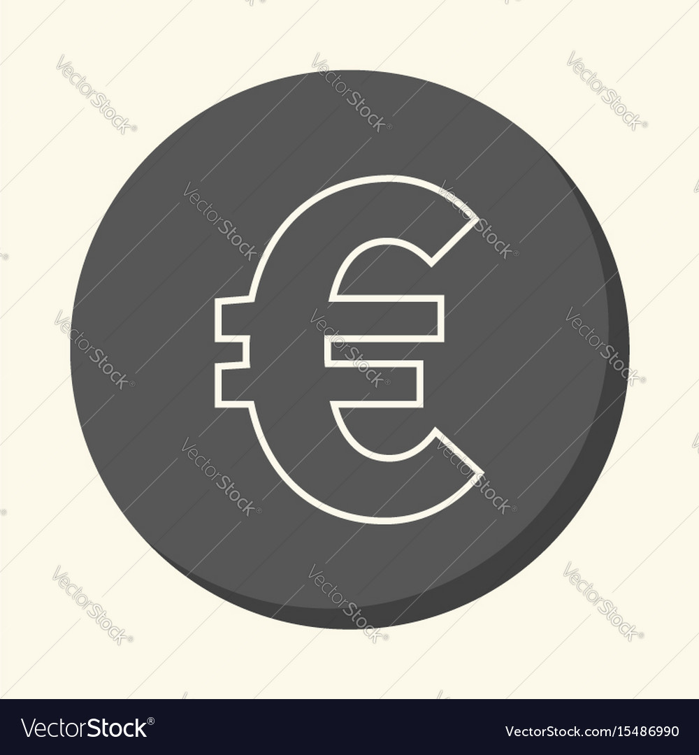Symbol Of Euro European Currency Round Royalty Free Vector