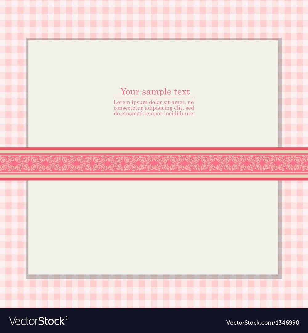 Vintage pink background for invitation card