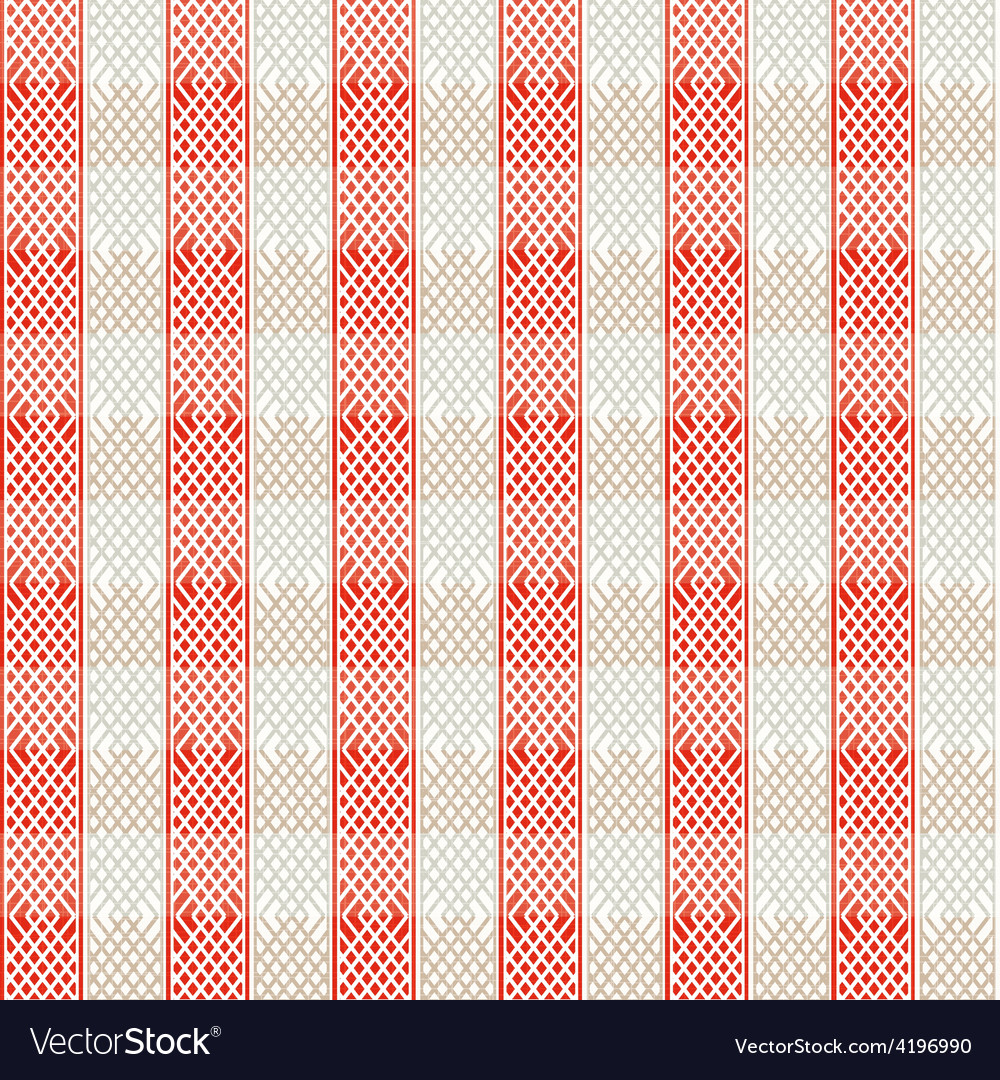 Vintage red lines seamless pattern