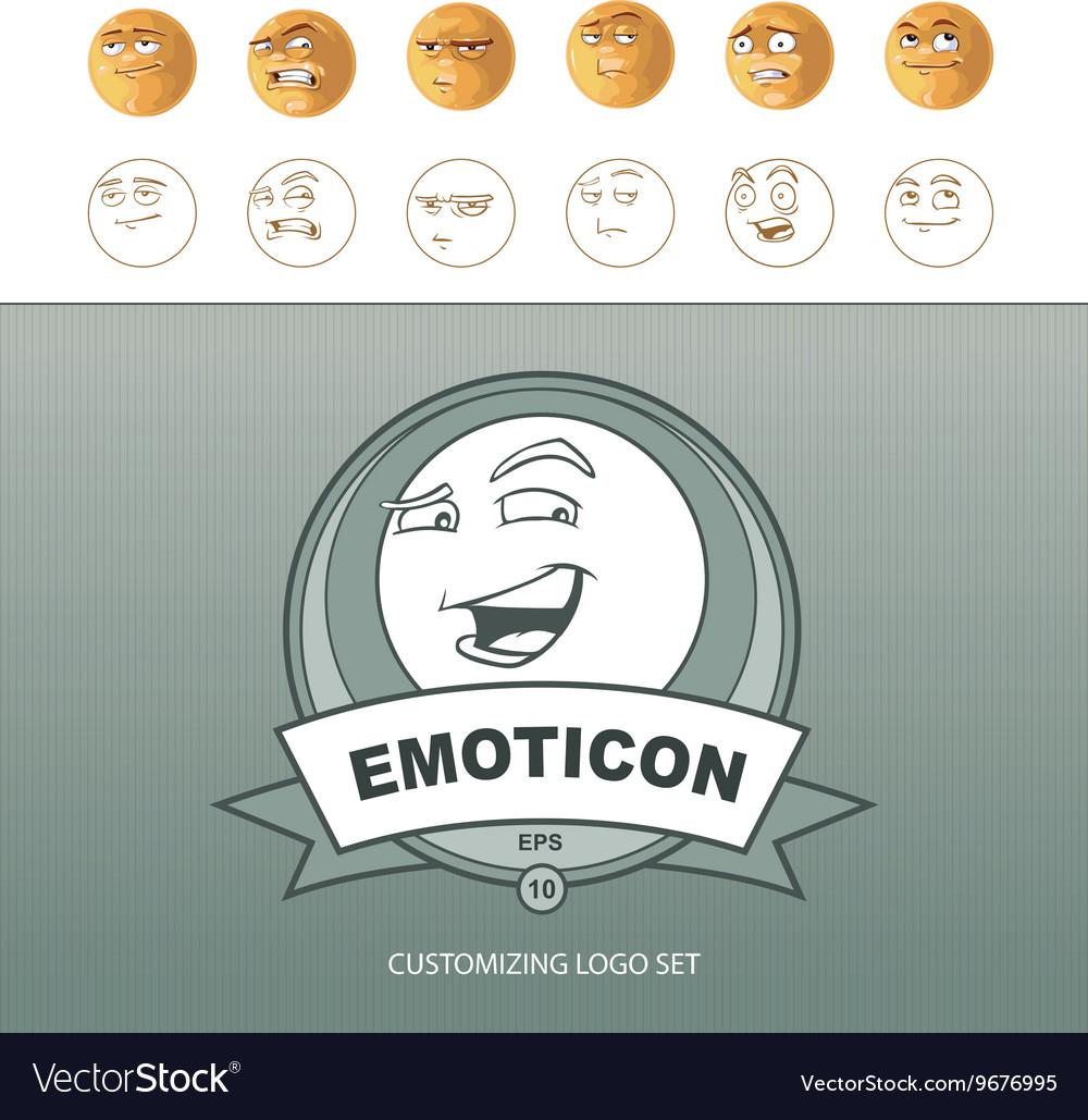 Emoticons customizing vector image