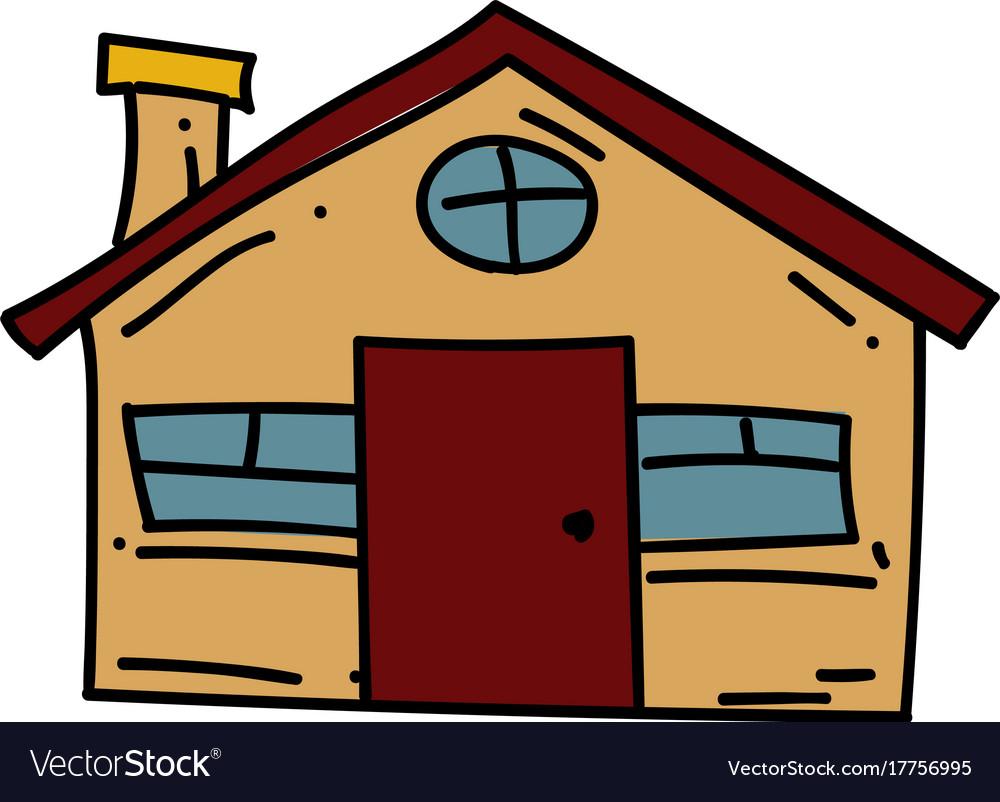 farm house cartoon hand drawn image royalty free vector rh vectorstock com download pictures of cartoon farm house
