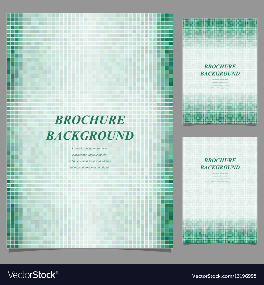 Geometric square pixel page template set vector image