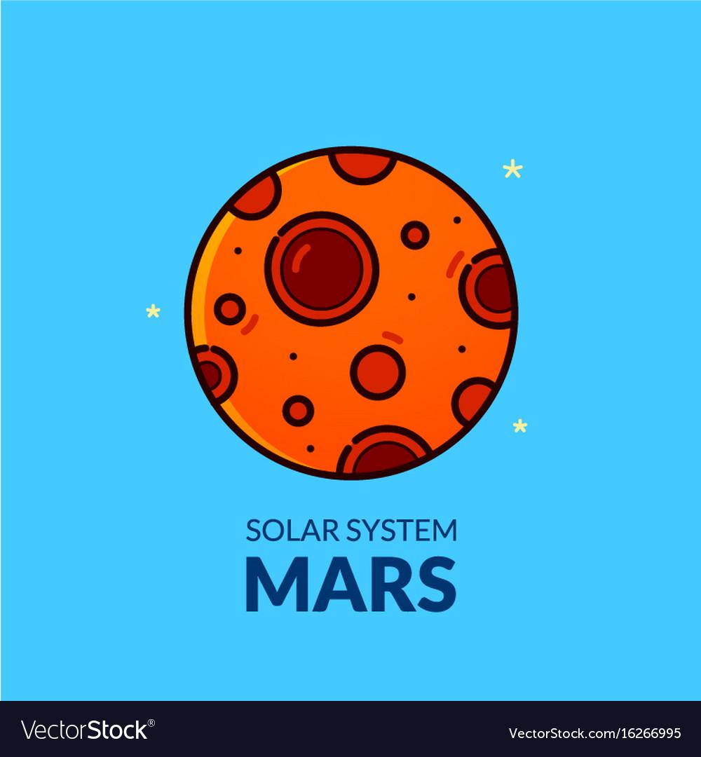 Terrestrial planet mars vector image