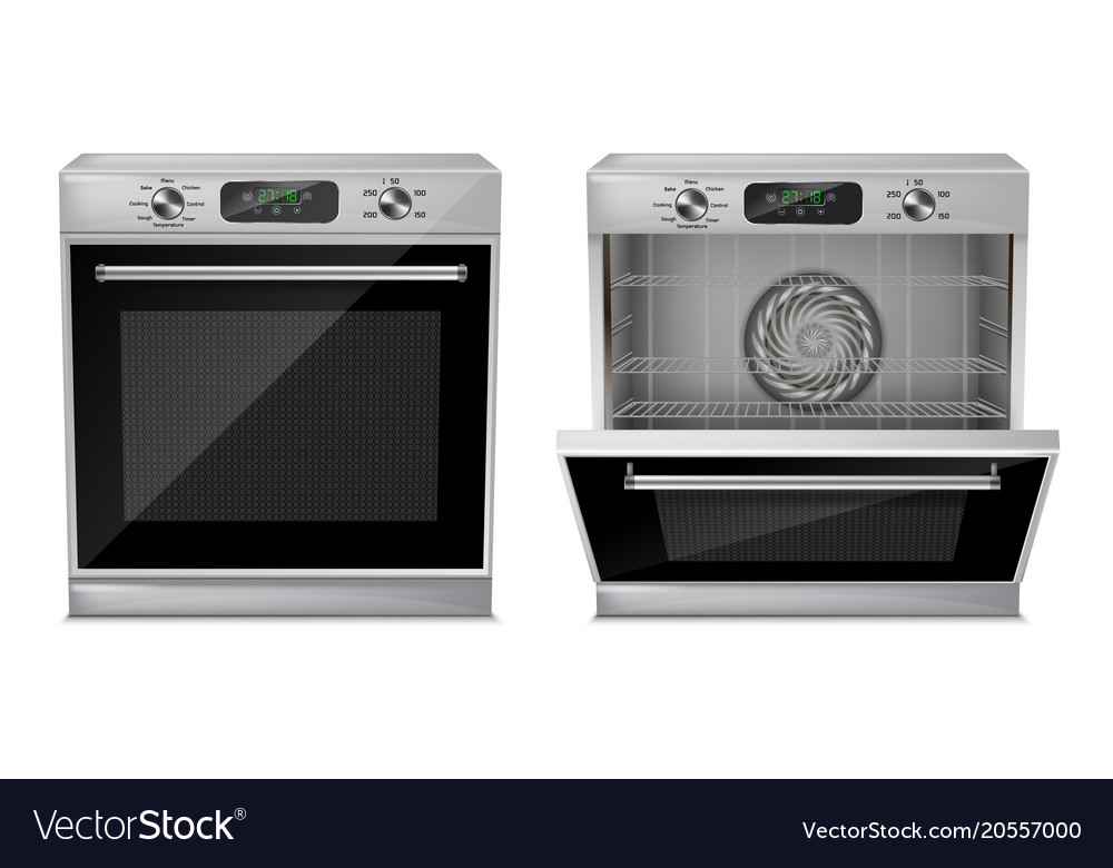 3d realistic compact built-in oven