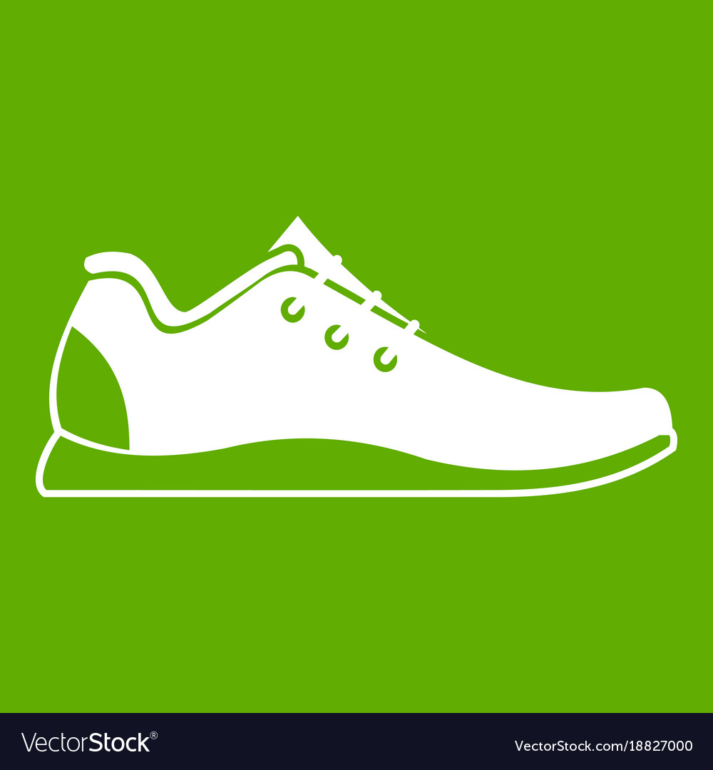 Athletic shoe icon green