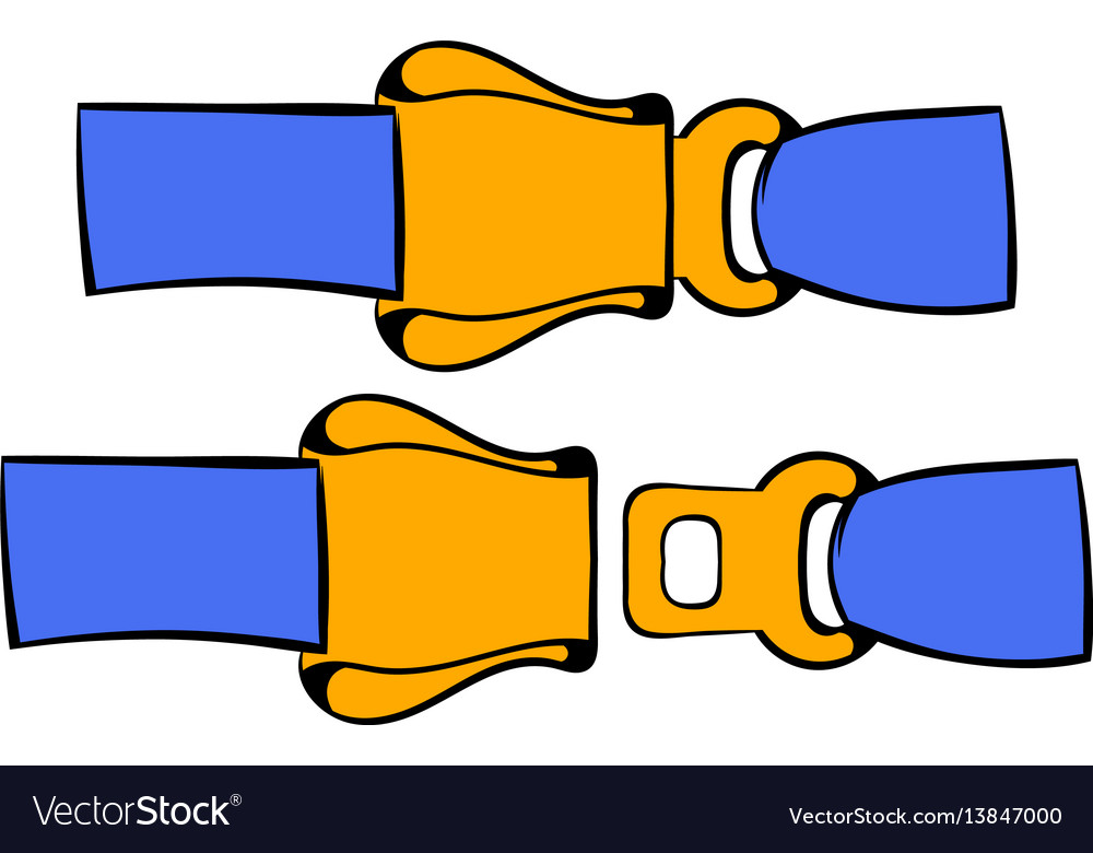 Aviation seat belt icon icon cartoon vector image
