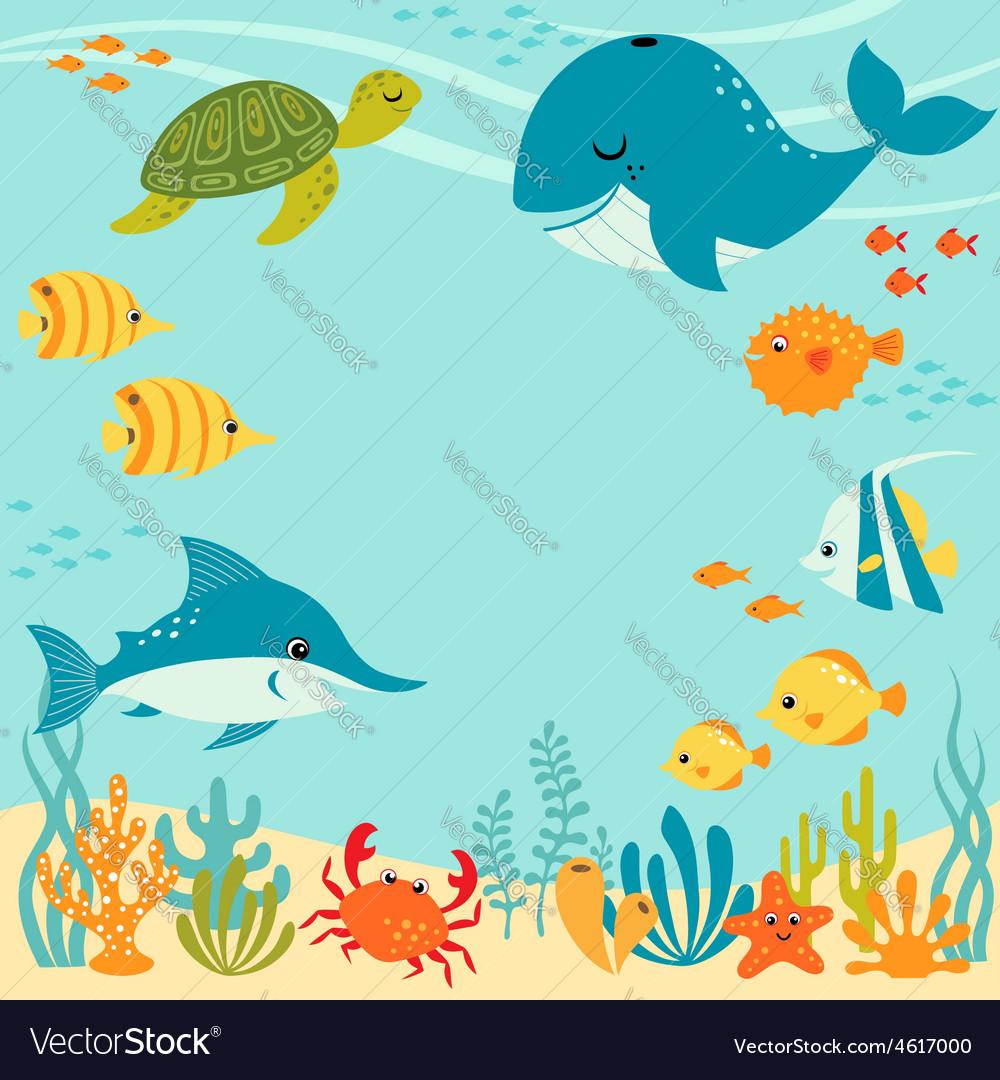 Cute underwater design