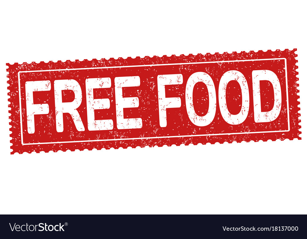 Free food sign or stamp Royalty Free Vector Image