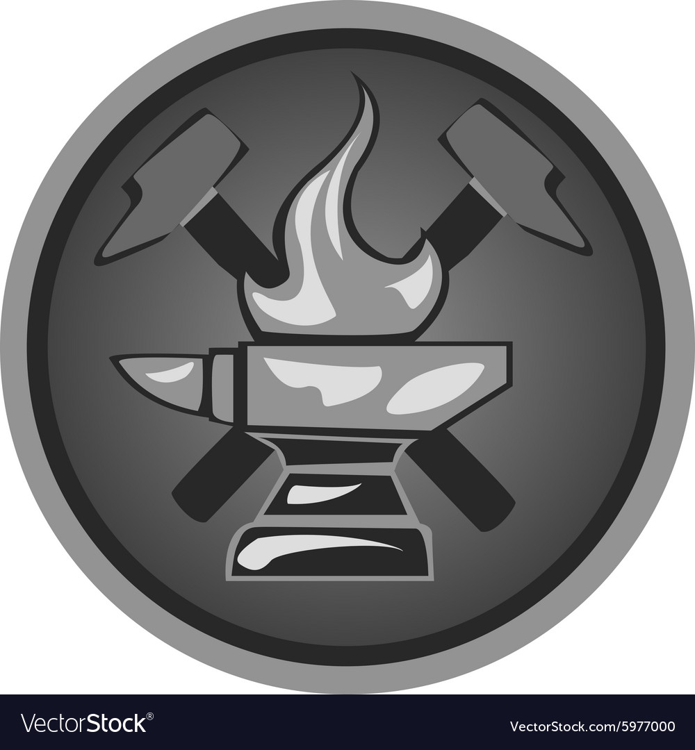 Icon forge1 vector image