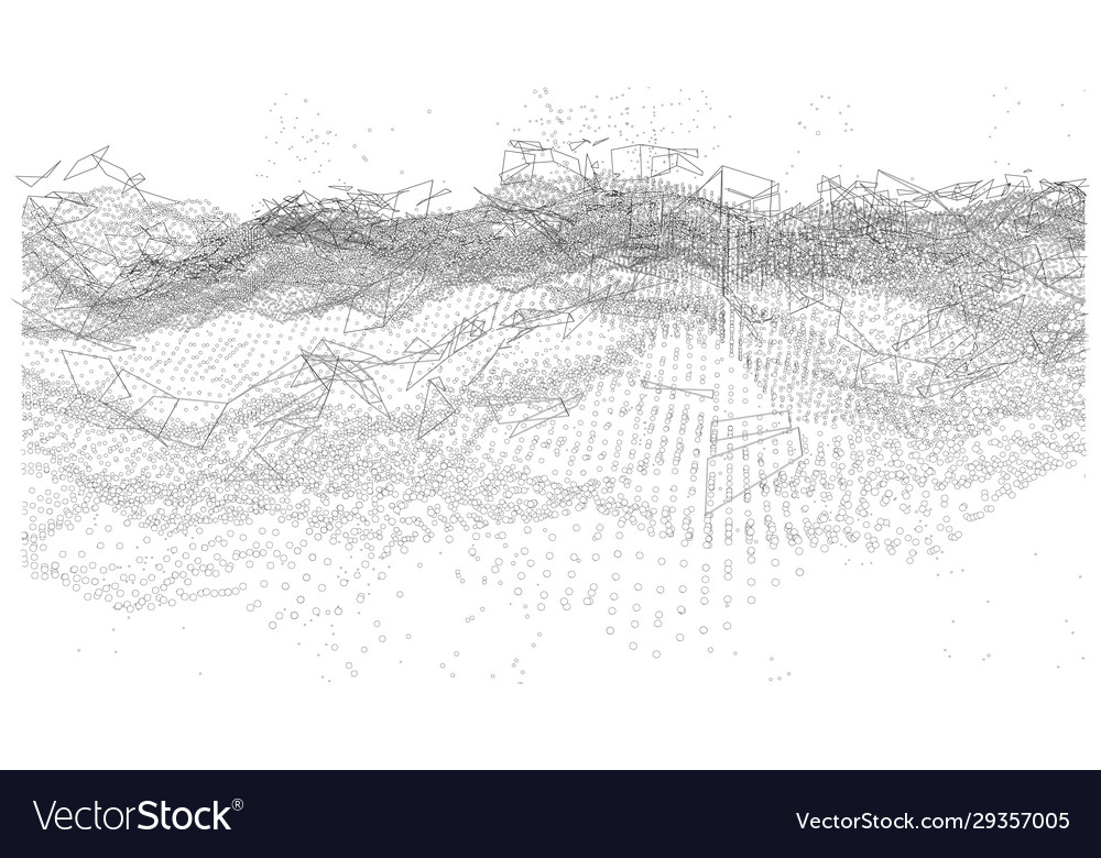 Background consisting dots and lines