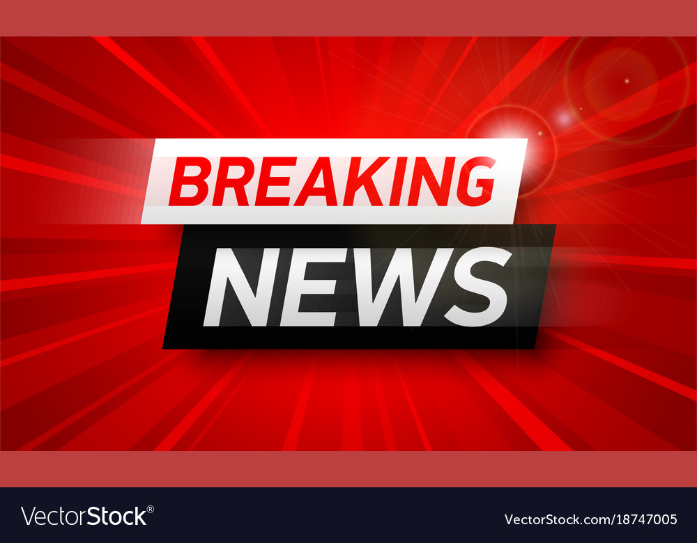 Breaking News Background World Global Tv Vector Image