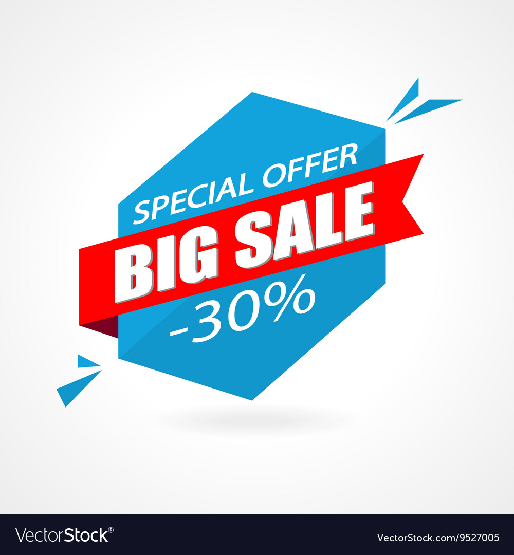 Discount 30 percent off - advertising