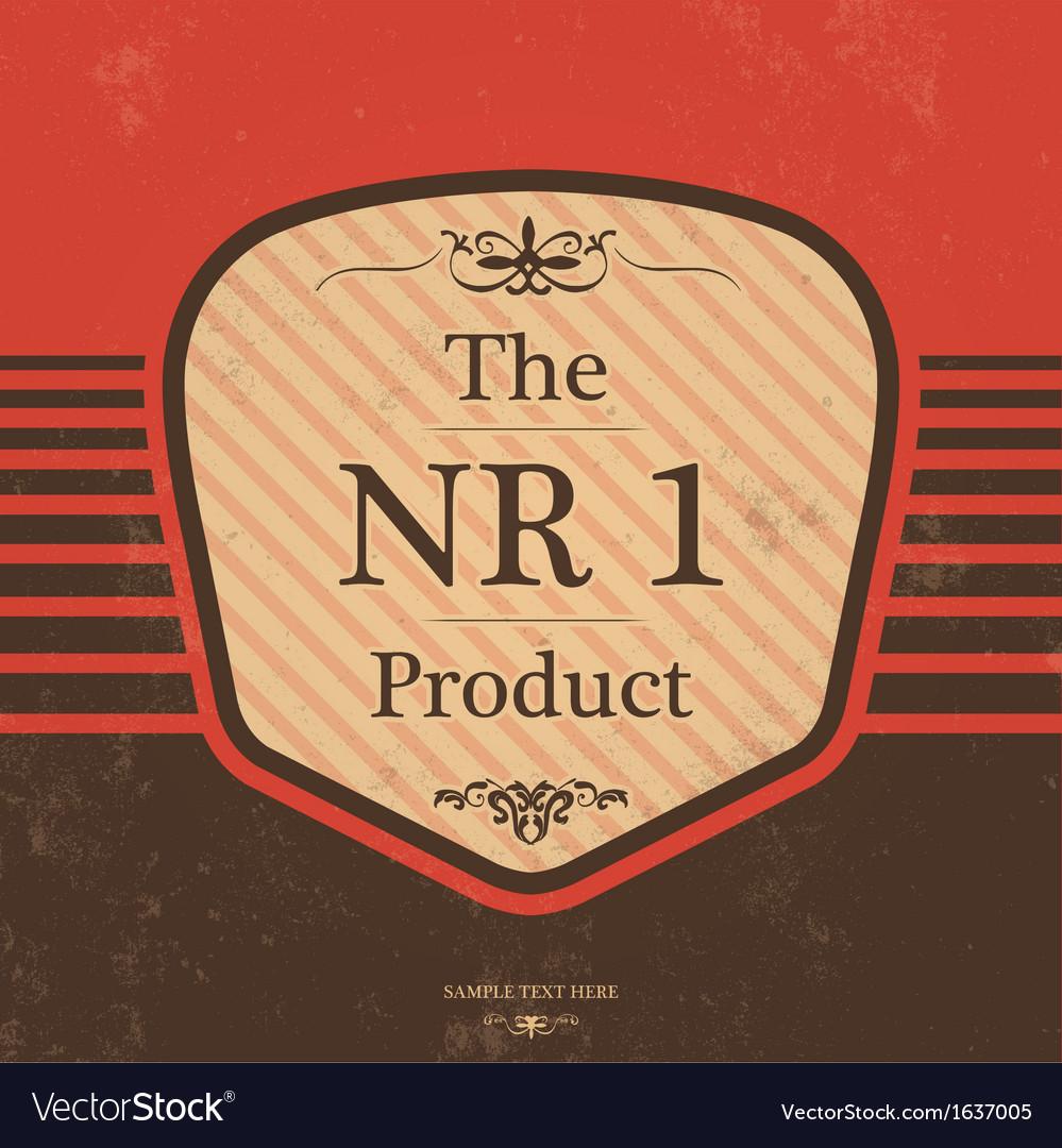 Vintage Label Design with Retro Background