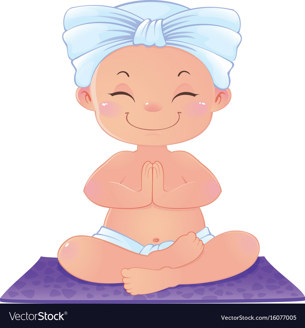 Yogi in meditation sitting in lotus position vector image