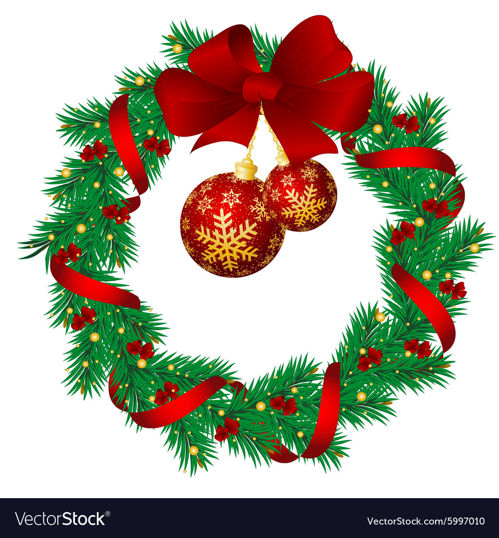 christmas garlands vector image - Christmas Garlands