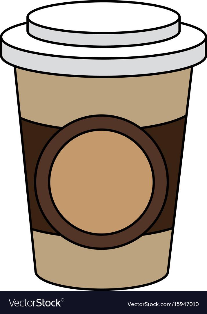 coffee in plastic cup royalty free vector image rh vectorstock com cup vector art cup vector logo