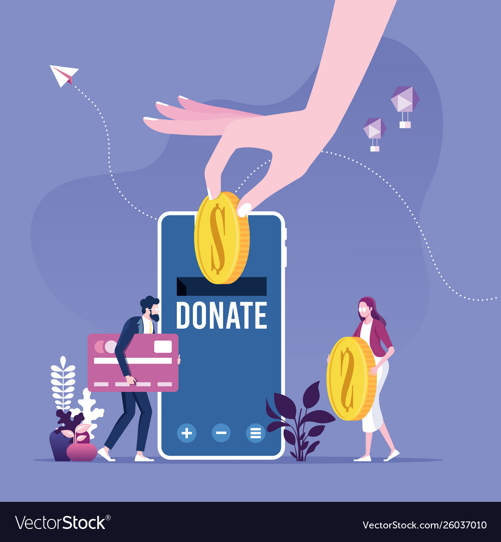 Donating money online payments