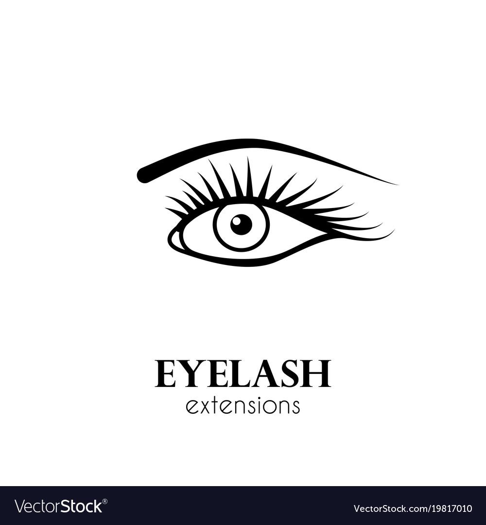 Eye eyelash extensions