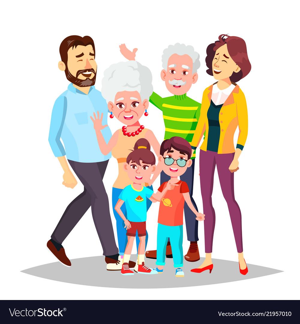 Family full family portrait dad mother