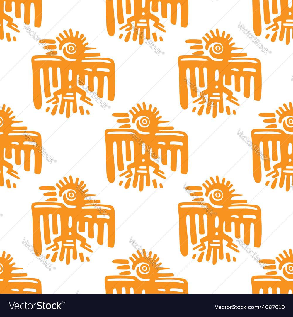 Maya art seamless pattern