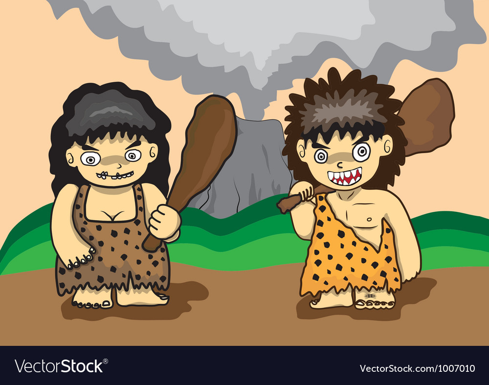 Stone age cartoon