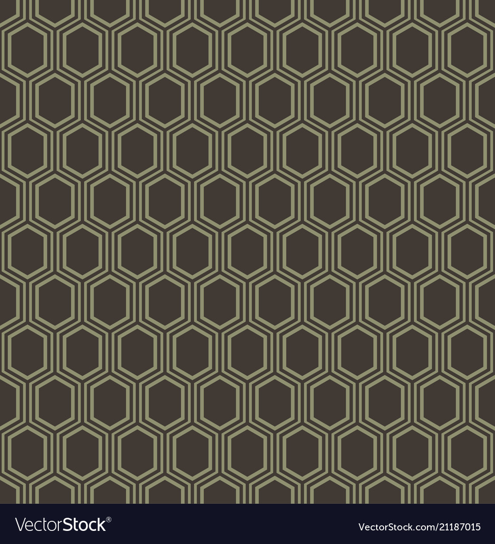 Abstract geometric line hexagon seamless pattern