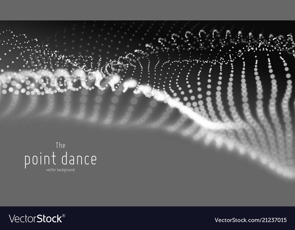 Abstract monochrome particle wave points