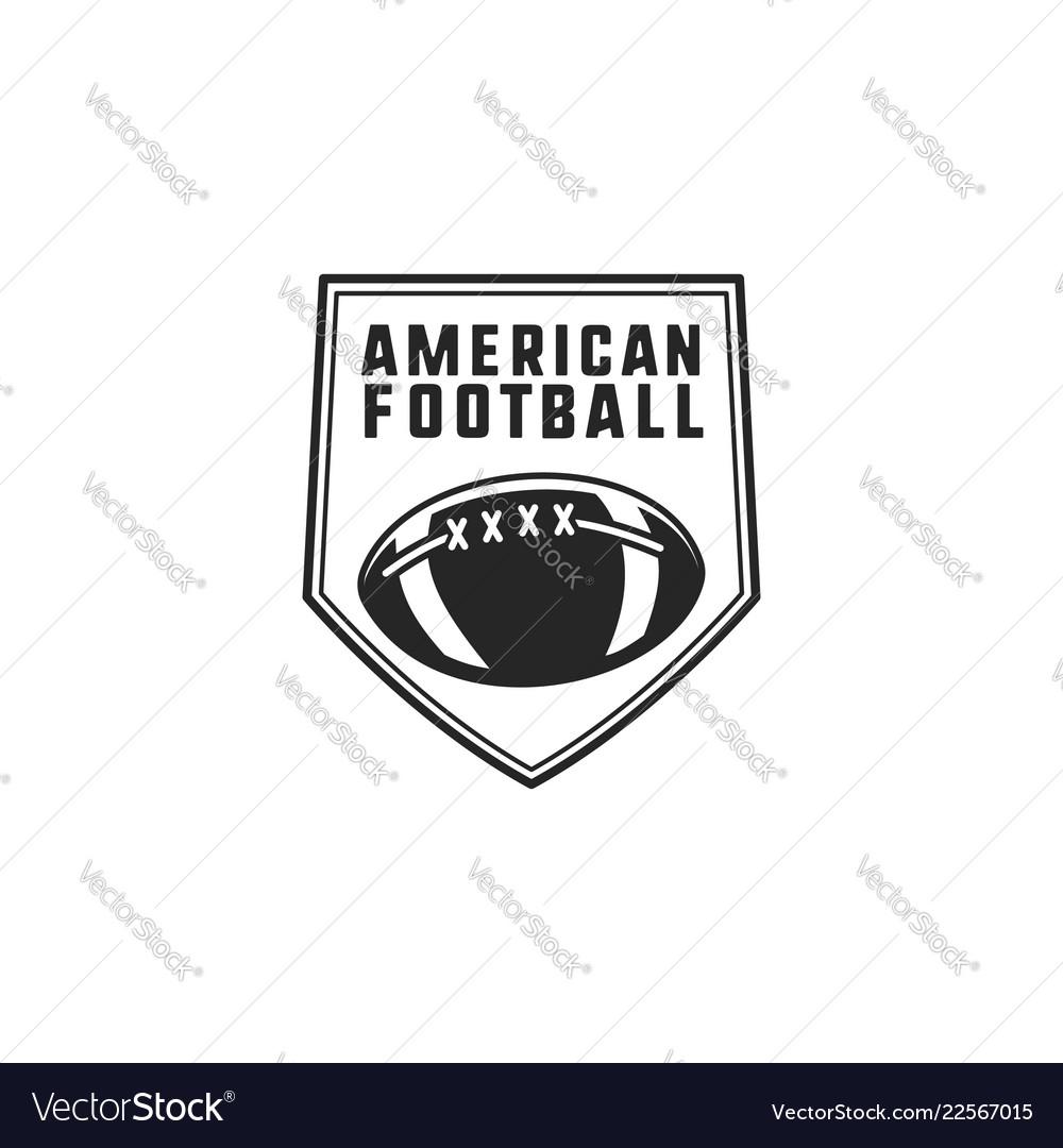 American football logo emblem usa sports badge in