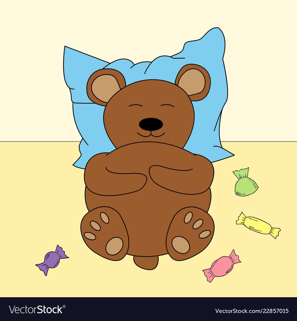 Bear in cartoon style cute