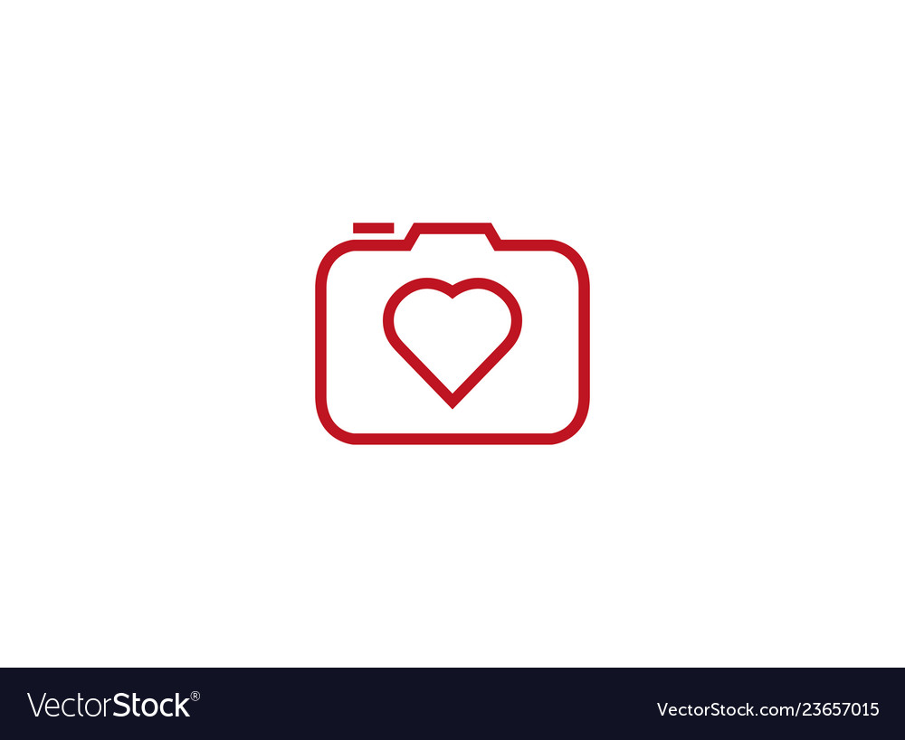 Camera photograph with heart love icon